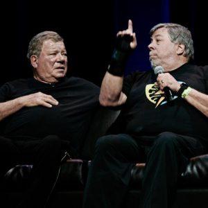 Shatner and Woz. Photo: Teodor Bjerrang-teodor@bjerrang.no